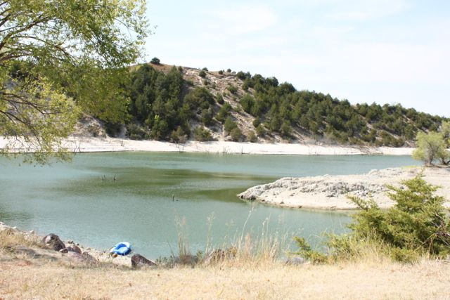 Merritt Reservoir in a drought