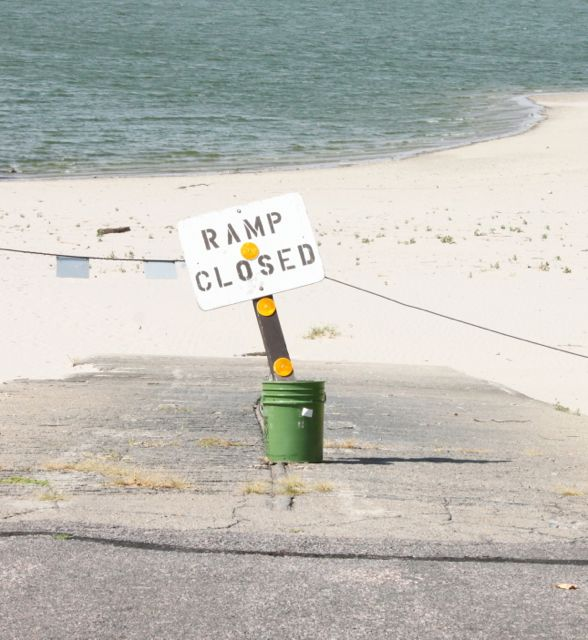 Ramp Closed at Merritt Reservoir