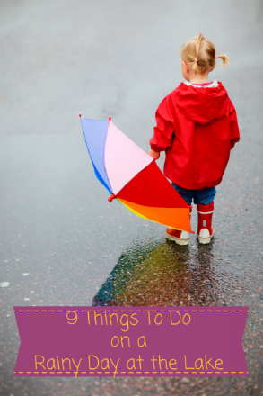 9 Things to Do on a Rainy Day at the Lake - Little Girl with Umbrella