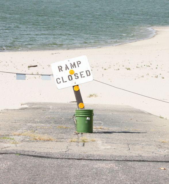 Ramp Closed at Merritt Reservoir