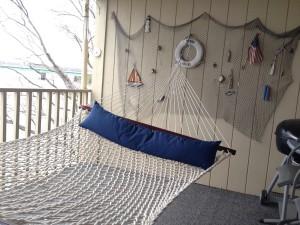 Hammock on the Condo Deck